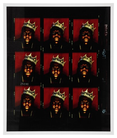View 5. Thumbnail of Lot 87. [THE NOTORIOUS B.I.G.] BARRON CLAIBORNE | The crown worn by Biggie when photographed as the King of New York, 1997..