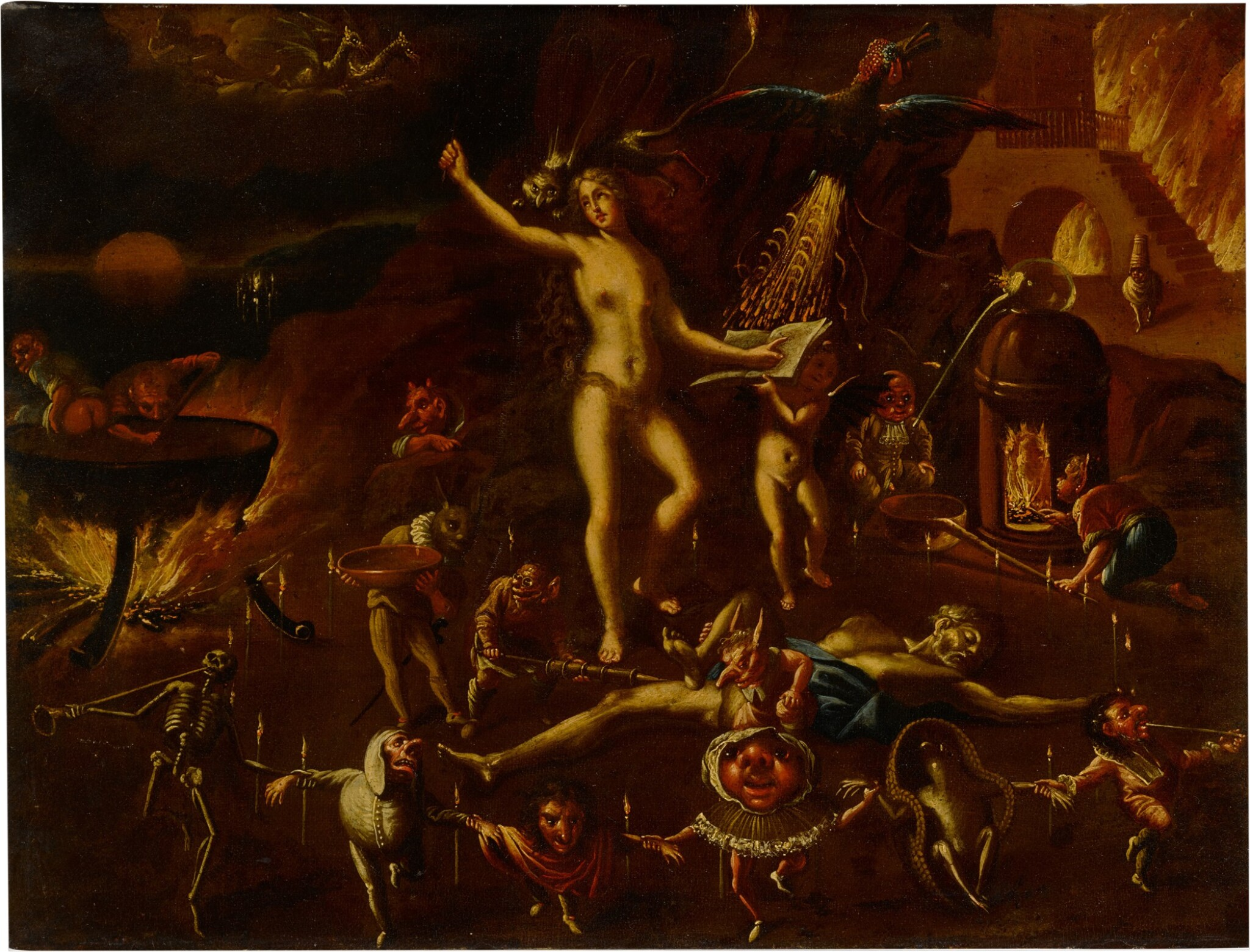 View full screen - View 1 of Lot 18. A witchcraft scene.