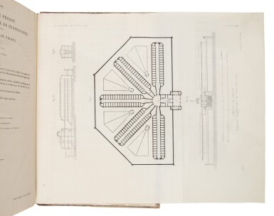 View 2. Thumbnail of Lot 134. Demetz, Frédéric-Auguste, & Guillaume-Abel Blouet   First edition of a highly important study of American prisons.