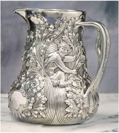AN AMERICAN SILVER WATER PITCHER, TIFFANY & CO., NEW YORK, CIRCA 1890