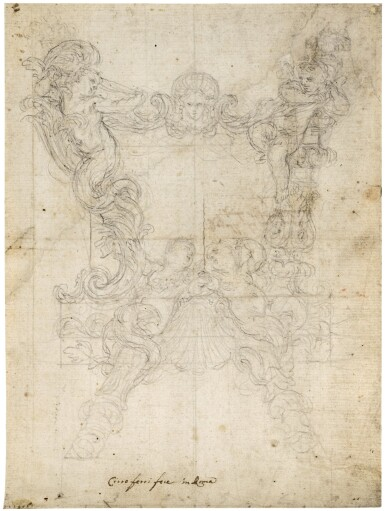 View 1. Thumbnail of Lot 42. Study for a Carta Gloria.