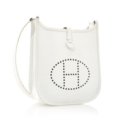 White leather and palladium hardware, Evelyne PM 16, Hermès, 2005