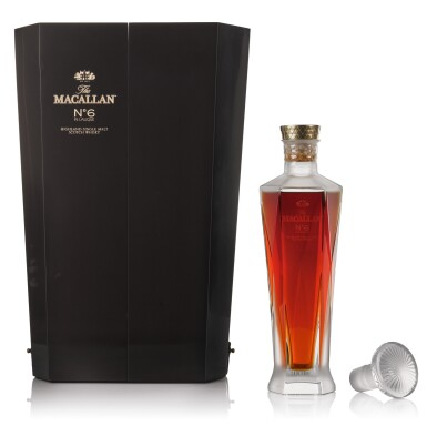 View 2. Thumbnail of Lot 76. The Macallan No. 6 In Lalique Decanter 43.0 abv NV .