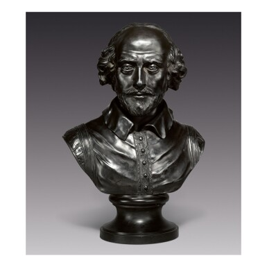 A WEDGWOOD VERY LARGE BLACK BASALT BUST OF WILLIAM SHAKESPEARE LATE 18TH CENTURY