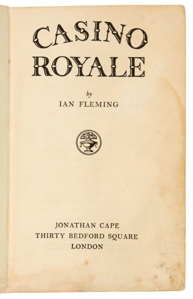 View 2. Thumbnail of Lot 3. FLEMING | Casino Royale, 1953, corrected proof copy.
