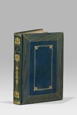 BALZAC. La Peau de chagrin. 1838. 1er tirage. Elégante reliure doublée de soie gaufrée argentée.