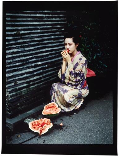 View 1. Thumbnail of Lot 1. NOBUYOSHI ARAKI     UNTITLED (WATERMELON) (FROM THE SERIES COLOURSCAPES), 1991.