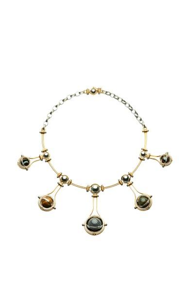 View 2. Thumbnail of Lot 7. Elie Top, Gem-Set and Diamond Necklace [Collier Pierres de Couleur et Diamants], 'Cinq Sphères'.