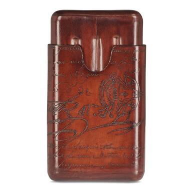 View 7. Thumbnail of Lot 3. Berluti   Cigar Box, Cigar Case, Club Chairs and Cyrus Slippers (Boîte à Cigares, Étui à Cigares, Fauteuils Club et Slipper Cyrus ) [5 Items / Articles].