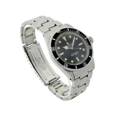 View 3. Thumbnail of Lot 105. ROLEX | REFERENCE 5513 SUBMARINER A STAINLESS STEEL AUTOMATIC WRISTWATCH WITH BRACELET, CIRCA 1970.