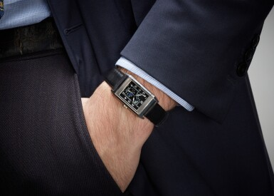 View 4. Thumbnail of Lot 21. JAEGER LECOULTRE | REVERSO NIGHT AND DAY, REFERENCE 270.3.63, WHITE GOLD REVERSIBLE RECTANGULAR WRISTWATCH WITH MOON-PHASES, POWER-RESERVE AND DAY/NIGHT INDICATION, CIRCA 2000.