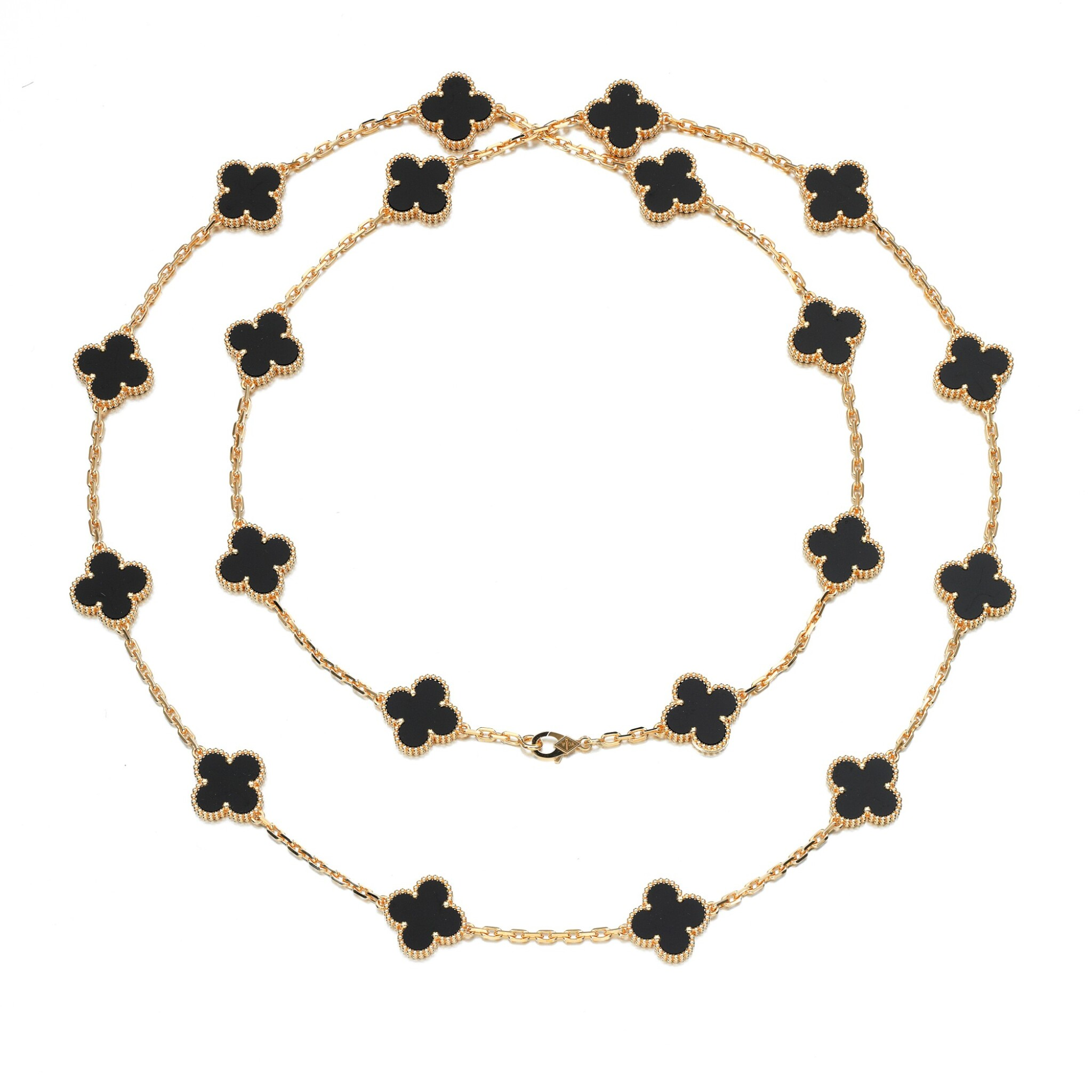 View full screen - View 1 of Lot 144. Onyx necklace, 'Alhambra'.