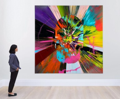 View 3. Thumbnail of Lot 868. DAMIEN HIRST | BEAUTIFUL APOCATEQUIL NARCISSISM PAINTING.