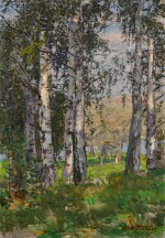 Strollers in the Birch Forest