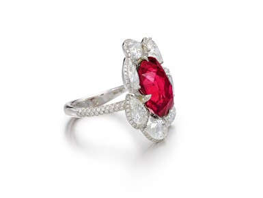 View 3. Thumbnail of Lot 1732. Ruby and Diamond Ring | 15.45克拉 天然「馬達加斯加」紅寶石 配 鑽石 戒指.