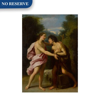View 1. Thumbnail of Lot 42. The Meeting of Christ and Saint John the Baptist.