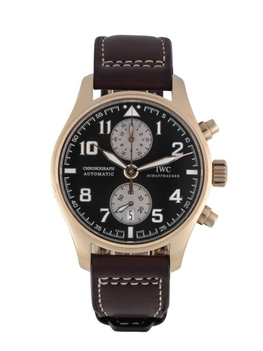 IWC | ANTOINE DE SAINT EXUPÉRY, REF 387805 LIMITED EDITION PINK GOLD CHRONOGRAPH WRISTWATCH WITH DATE CIRCA 2013