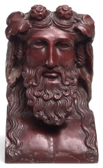 ROMAN ROSSO ANTICO MARBLE HERM BUST OF DIONYSUS, CIRCA 2ND CENTURY A.D.