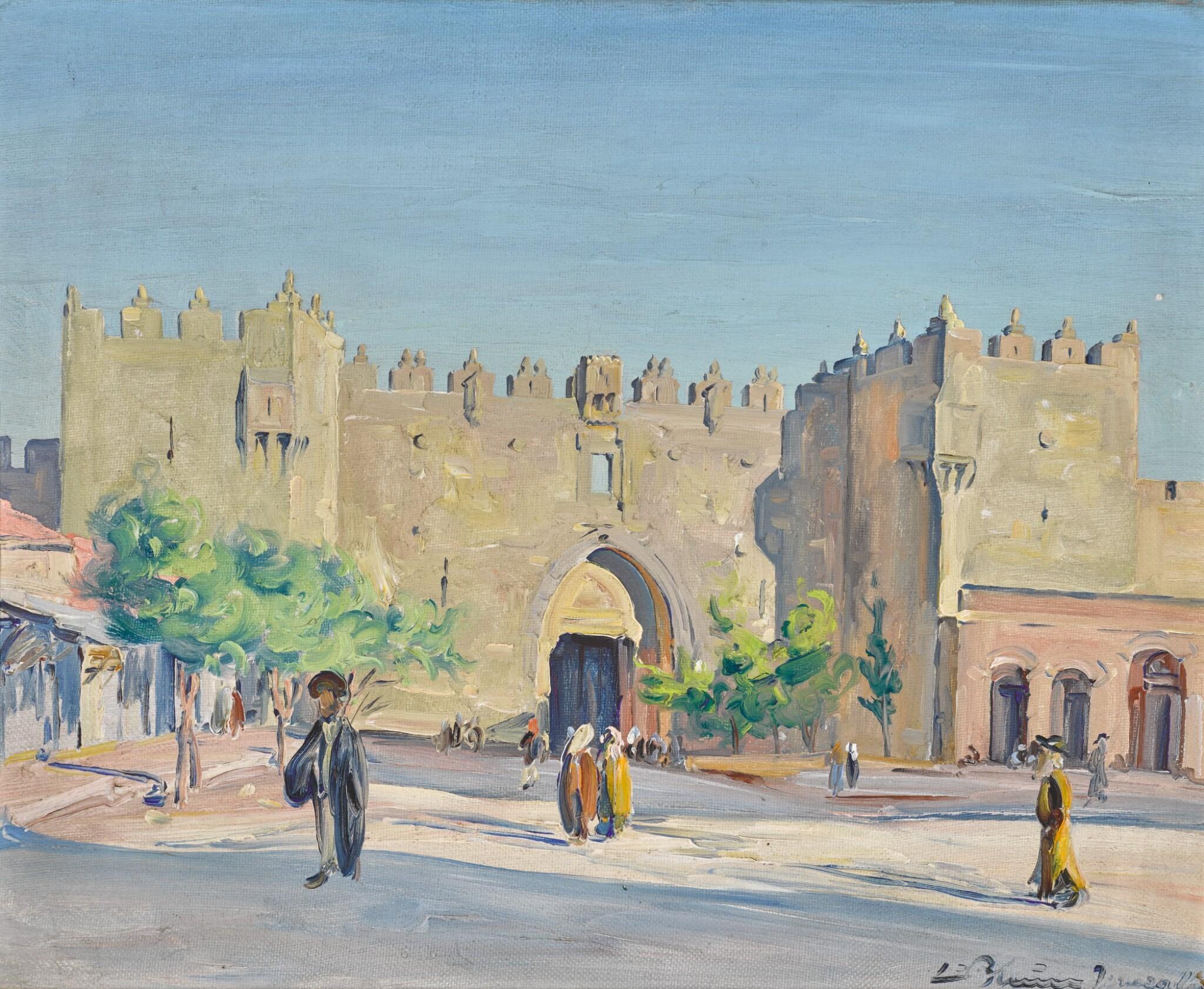 View full screen - View 1 of Lot 3. LUDWIG BLUM | The Damascus Gate, Jerusalem .