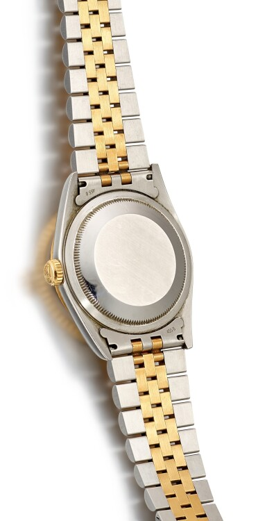 View 3. Thumbnail of Lot 1106. ROLEX | DATEJUST, REFERENCE 16233 A YELLOW GOLD AND STAINLESS STEEL WRISTWATCH WITH DATE AND BRACELET, CIRCA 1994.