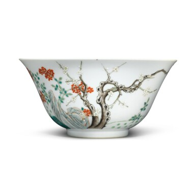 View 2. Thumbnail of Lot 9. A famille-rose 'sanyang' bowl, Mark and period of Guangxu.
