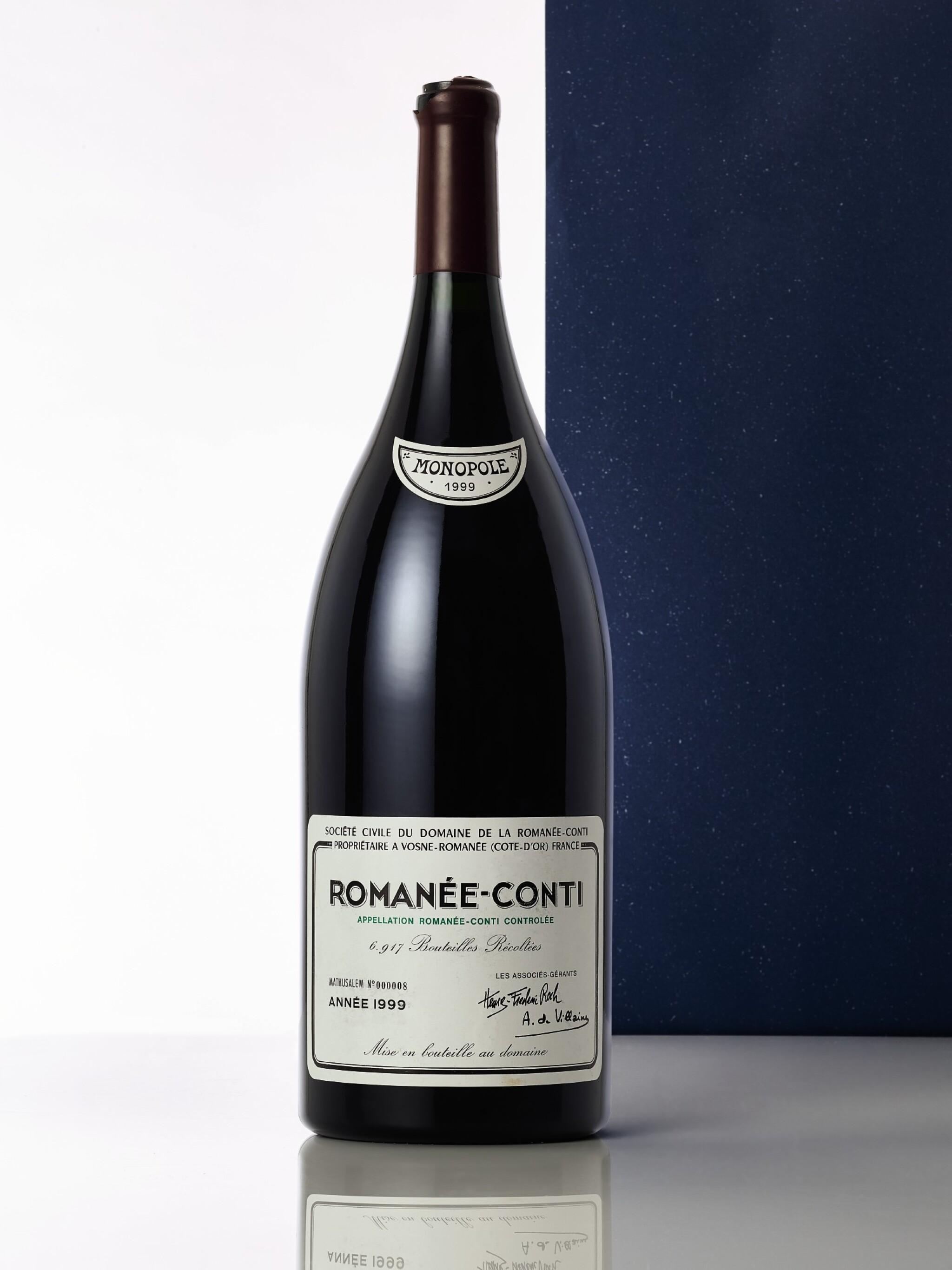 View full screen - View 1 of Lot 8078. Romanée Conti 1999 Domaine de la Romanée-Conti (1 METH) .