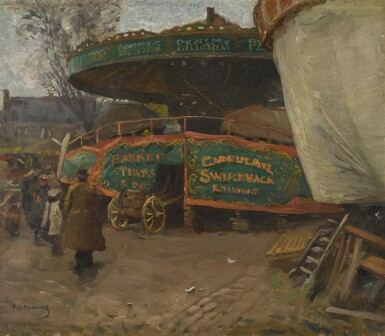 View 1. Thumbnail of Lot 135.  At the Fairground.