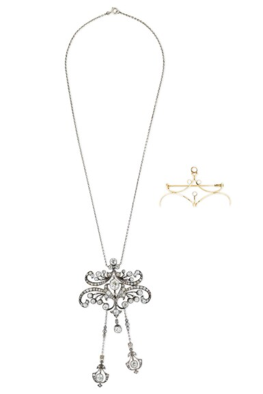 View 1. Thumbnail of Lot 4. COLLIER TRANSFORMABLE DIAMANTS | DIAMOND CONVERTIBLE NECKLACE.