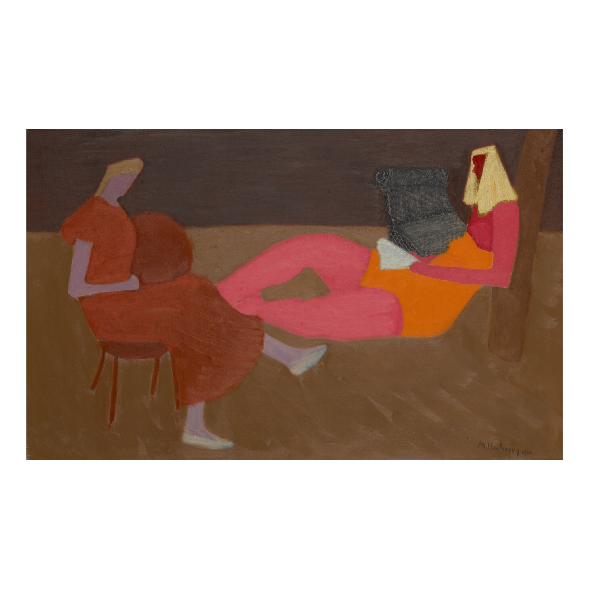 View full screen - View 1 of Lot 28. MILTON AVERY |  PORCH SITTERS.