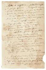 """G. Verdi. Autograph manuscript draft for the libretto for the the """"Willow Song"""" in Act IV of Otello, 1885"""