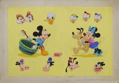 Mickey Mouse Annual (1950s) original artwork, British