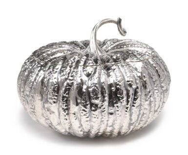 View 2. Thumbnail of Lot 232. AN ITALIAN SILVER PUMPKIN-FORM TUREEN AND COVER, BUCCELLATI, MILAN, SECOND HALF 20TH CENTURY.