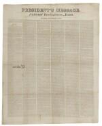 ADAMS, JOHN QUINCY | John Quincy Adams's signed copy of his President's Message, in National Intelligencer Extra. [Washington], December 6, 1825