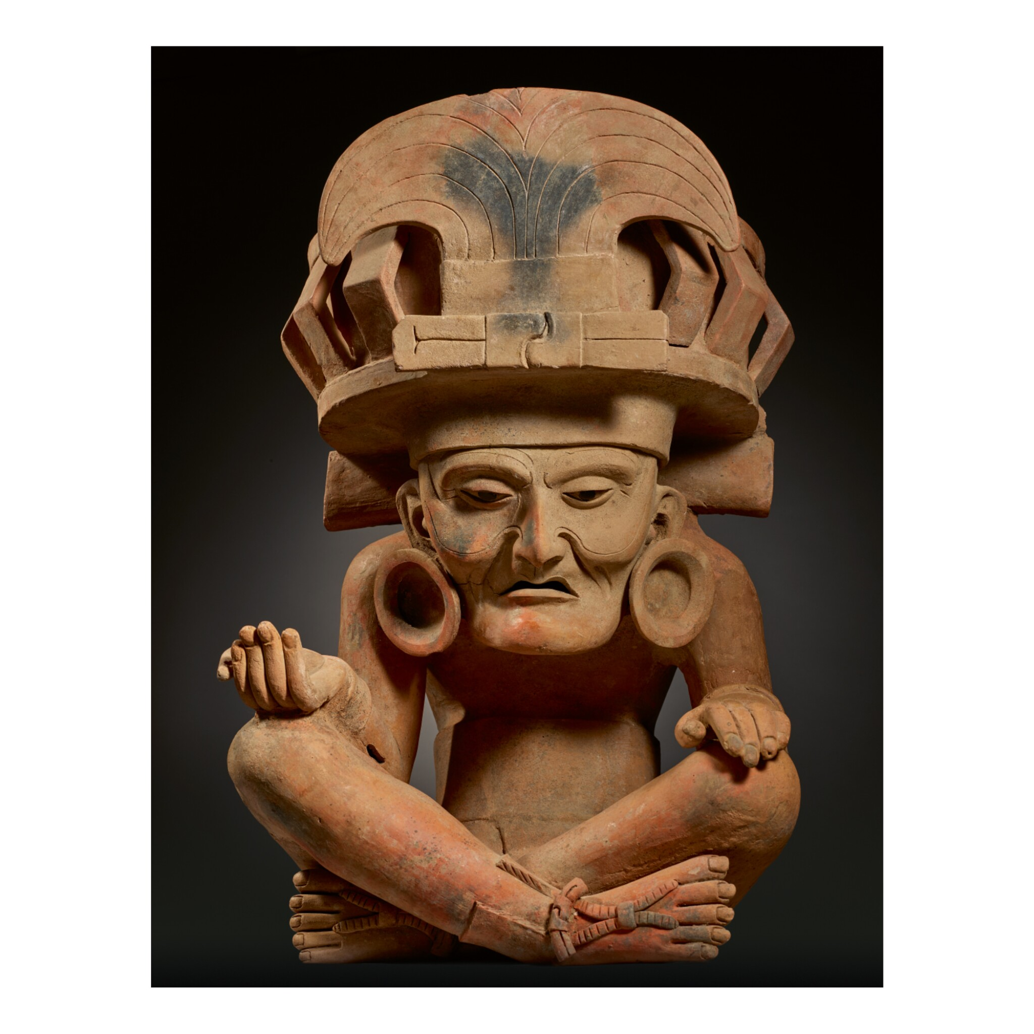 View full screen - View 1 of Lot 155. LARGE VERACRUZ FIGURE OF THE FIRE GOD, REMOJADAS LATE CLASSIC, CIRCA AD 550-950.