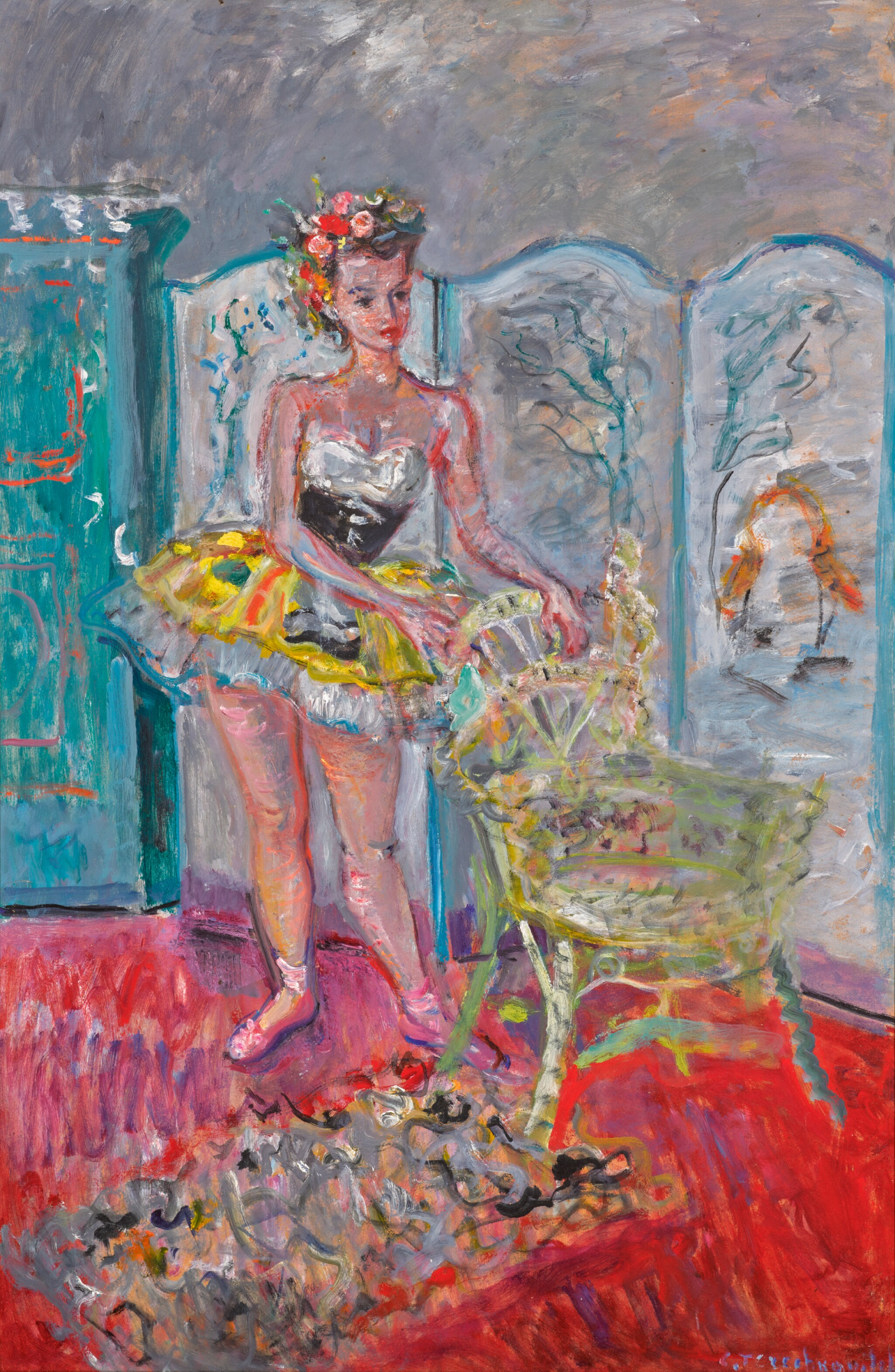 View full screen - View 1 of Lot 94. CONSTANTIN TERECHKOVITCH   Dancer with Chair .