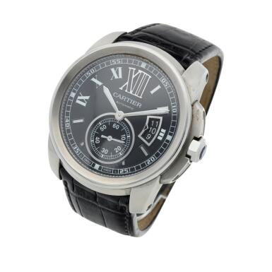 View 2. Thumbnail of Lot 132. Reference 3299 Calibre  A stainless steel automatic wristwatch with date, Circa 2010  .