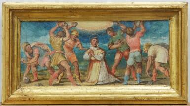 View 7. Thumbnail of Lot 129. GIOVANNI BATTISTA NALDINI  |  MANNA FROM HEAVEN; THE STONING OF ST. STEPHEN.