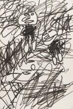 JEAN DUBUFFET | DESSIN N°14 POUR BONPIET BEAU NEUILLE
