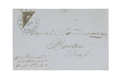 1851 12c Gray Black Diagonal Bisect (17a)