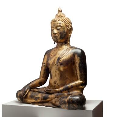 View 3. Thumbnail of Lot 63. Thailand, Ayutthaya Period, 16th/17th century   Seated Buddha.