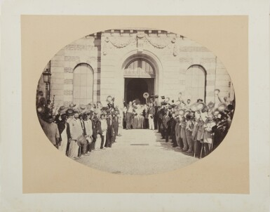 View 2. Thumbnail of Lot 53. The Salute to the Emperor (Imperial Asylum at Vincennes, 15 August).