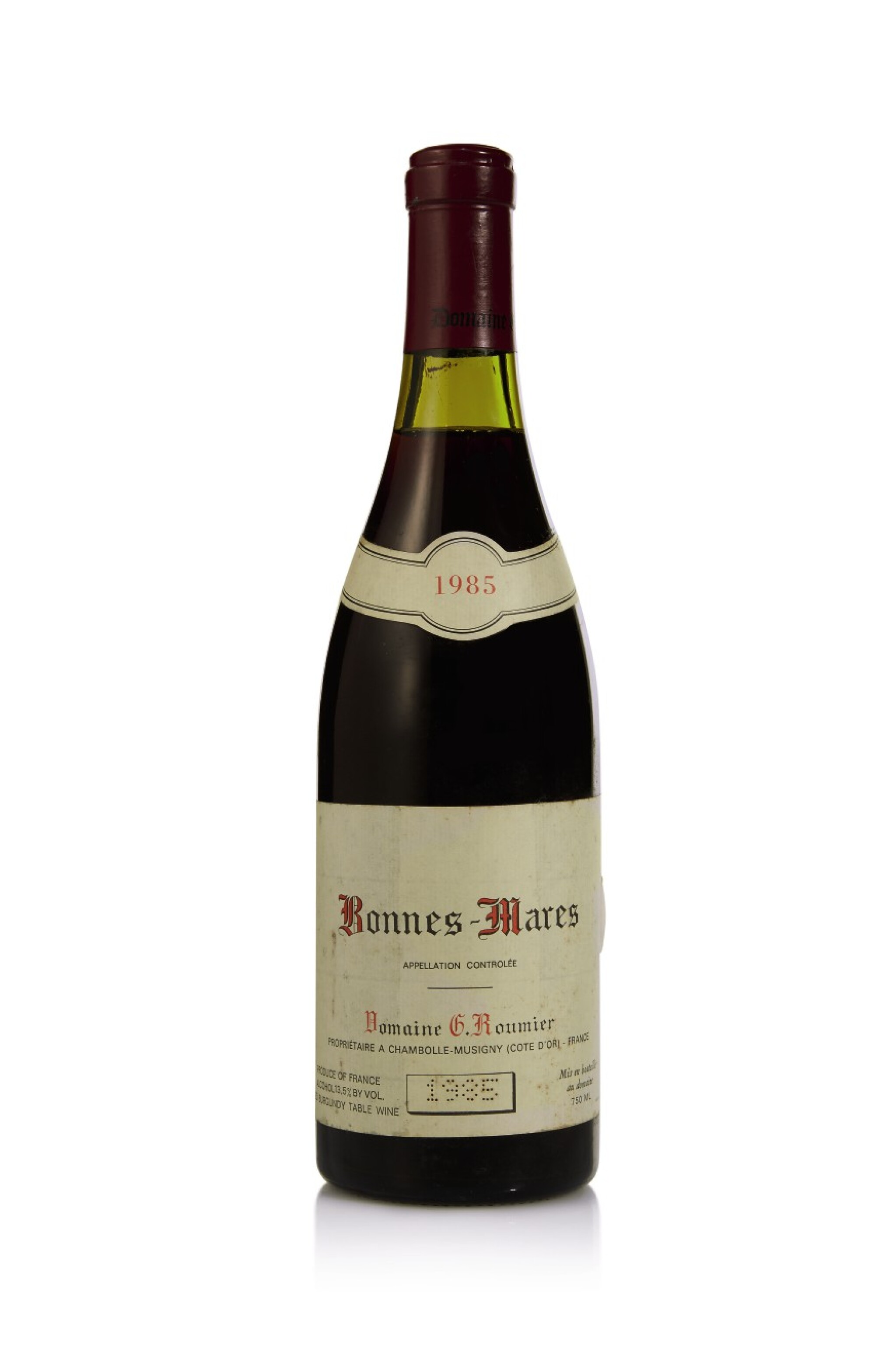 View full screen - View 1 of Lot 43. Bonnes Mares 1985 Domaine Georges Roumier (1 BT).