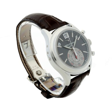 View 3. Thumbnail of Lot 164. REFERENCE 5960P-001 A PLATINUM AUTOMATIC ANNUAL CALENDAR FLY-BACK CHRONOGRAPH WRISTWATCH WITH DAY/NIGHT INDICATION, CIRCA 2010.