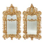 A PAIR OF GEORGE III CHIPPENDALE STYLE GILTWOOD PIER MIRRORS