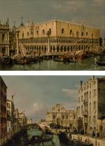 FRANCESCO ZANIN | VENICE, VIEW OF THE PALAZZO DUCALE; VENICE, VIEW OF THE SCUOLA GRANDE DI SAN MARCO