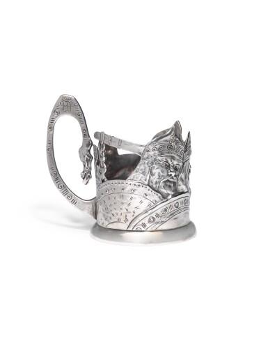 A silver tea glass holder, Egor Samoshin, Moscow, 1899-1908