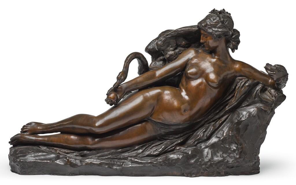 JOSEPH MARIA THOMAS (JEF) LAMBEAUX | LEDA AND THE SWAN