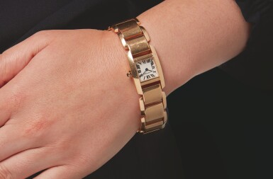 View 3. Thumbnail of Lot 34. CARTIER | REF 2801 TANKISSIME, A PINK GOLD WRISTWATCH WITH BRACELET CIRCA 2005.
