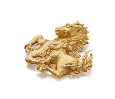 GOLD CLIP-BROOCH, DAVID WEBB