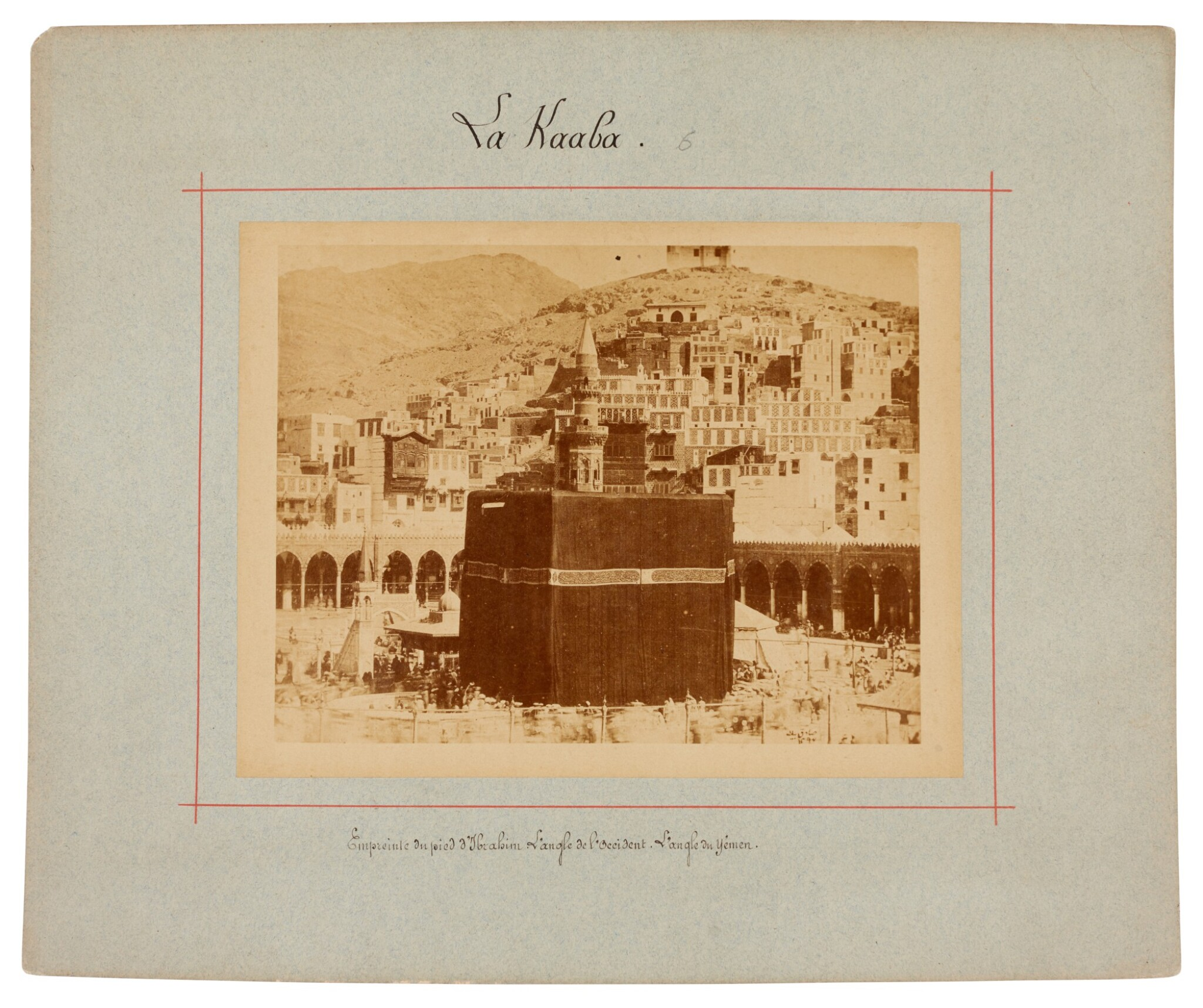 View full screen - View 1 of Lot 103. Mecca-after Muhammad Sadiq Bey | A collection of seven photographs of Mecca, circa 1880s.